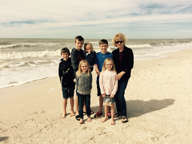 The kids with Nana Kay