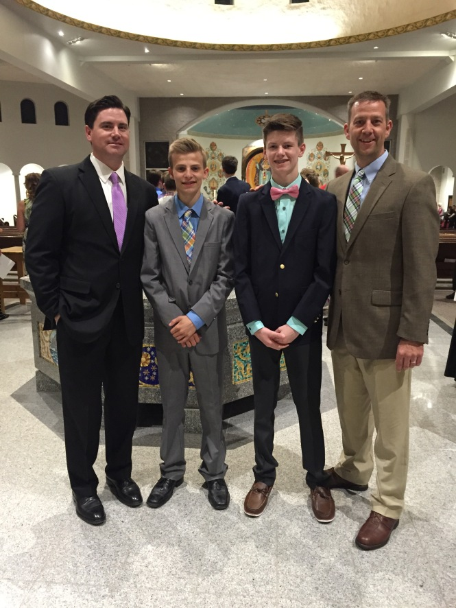 Hunter was blessed to be sponsored by one of his best friends dad (thank you Adam!), and Chris was honored to sponsor that friend in turn!